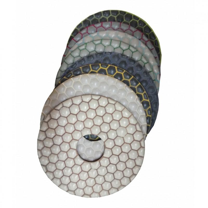 Set of 8 resin pads Ø 125 mm
