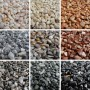 Rolled marble aggregates