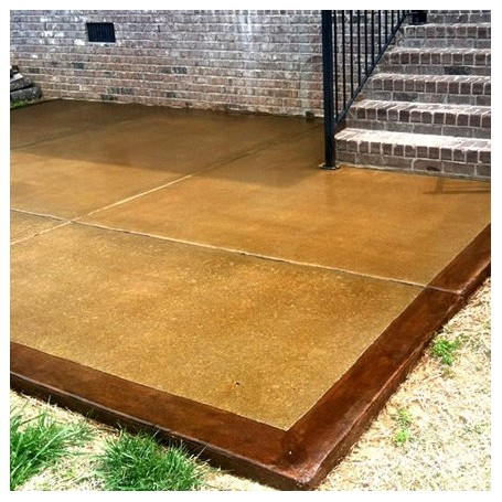 Full Package Stained Concrete For Outside, Acid Stain Concrete Patio