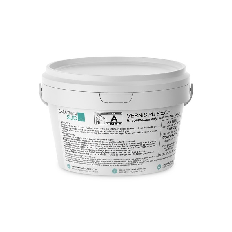 Masters Vernis PU ECODUR - Compoant A - 1,5kg
