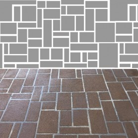 Stencil Pattern - Ashlar Slate