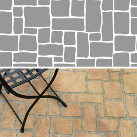 Stencil Pattern - OLD ENGLISH COBBLESTONE