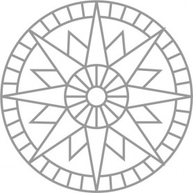 Stencil Pattern - ROSETTE