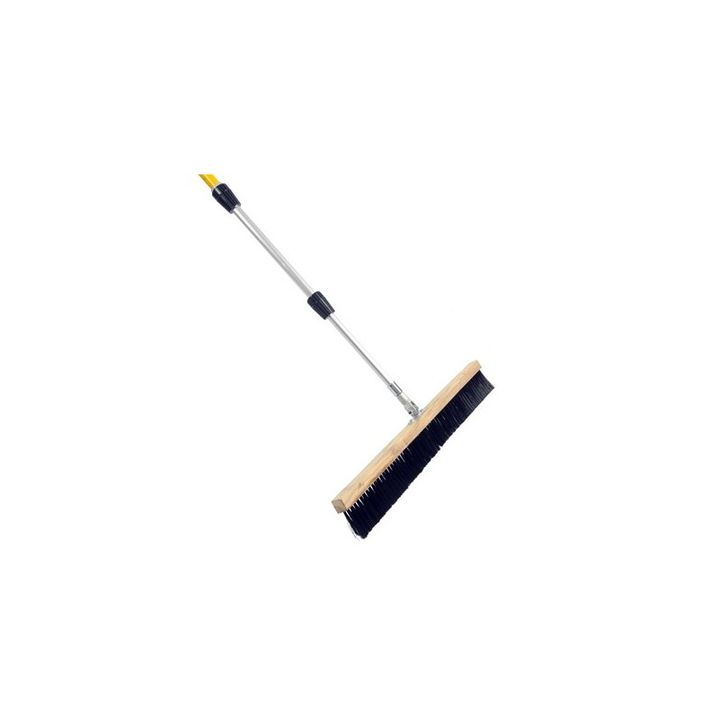 Concrete finishing broom with handle