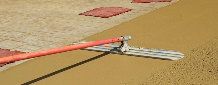 Werkzeuge für dekorativen Beton