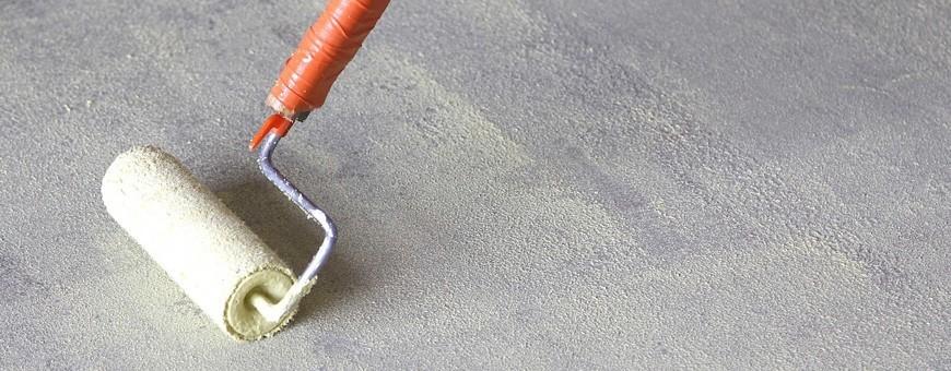 Agenți de lipire sau grunduri pentru realizarea diferitelor betoane decorative