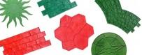 Eine große Auswahl an Briefmarken, Texturen und Skins