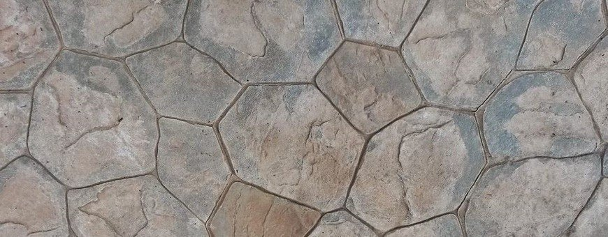 Stone patterns for stamped concrete