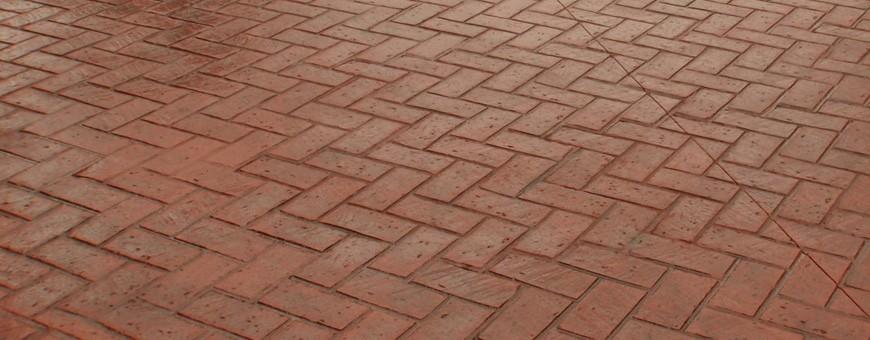 Diferite modele și ștampile de cărămidă pentru beton ștanțat
