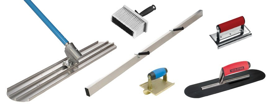 Tools for stamped concrete