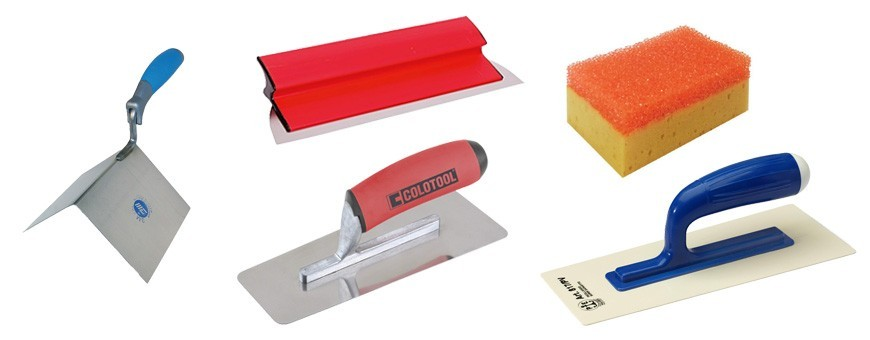 Professional tools for microcement